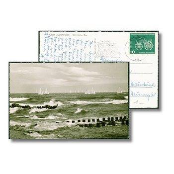 "2300 Kiel - Postkarte ""Stürmische See"""