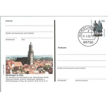 """8860 Nördlingen - Bildpostkarte """"Ansicht Historische Altstadt"""""""