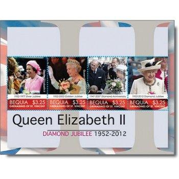 """Königin Elisabeth II. """"Jubiläum"""" - Briefmarken-Block postfrisch, St. Vincent und Grenadine"""