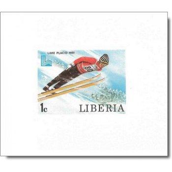 Olympische Winterspiele 1980 - 6 Luxusblocks postfrisch, Katalog-Nr. 1168 B-1173 B, Liberia