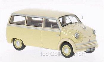 Modellauto:Lloyd LT 500/600 von 1955, beige/hellbeige(NEO, 1:43)