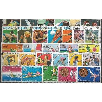 Olympische Sommerspiele - 100 verschiedene Briefmarken