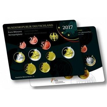 Kursmünzensatz 2017, Porta Nigra, Stempelglanz, alle 5 Prägestätten, Deutschland