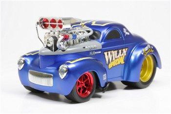 Modellauto:Willy Coupé - Muscle Machines - von 1941, blau(Maisto, 1:18)