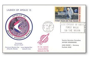 50 Jahre Apollo 15 - Karte, USA