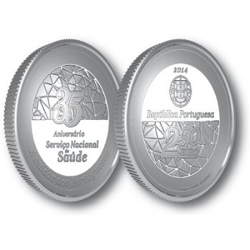Nationales Gesundheitswesen, Silbermünze Portugal