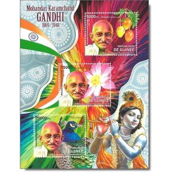 Mohandas Karamchand Gandhi - Briefmarken-Block postfrisch, Guinea