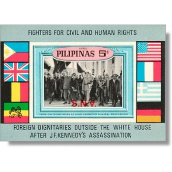 John F. Kennedy - Opfer des gewaltlosen Widerstandes - Briefmarken-Block postfrisch, Katalog-Nr. Bl.