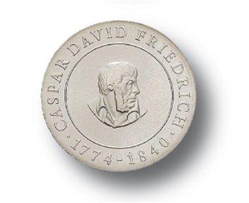 10-Mark-Münze 1974, 200. Geburtstag Caspar David Friedrich, DDR