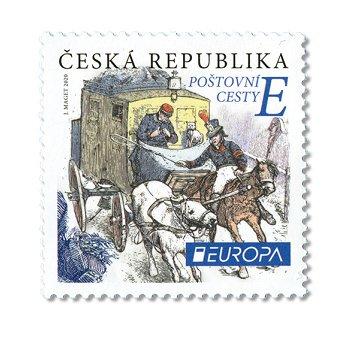 Europa 2020: Historische Postwege - Briefmarke postfrisch, Tschechische Republik
