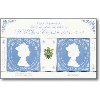 60. Thronjubiläum von Königin Elisabeth II. - Briefmarken-Block postfrisch, Pitcairn