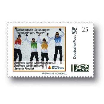 Skispringen, Teamspringen Herren - Marke Individuell postfrisch, Deutschland