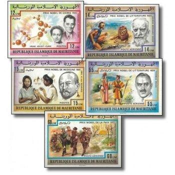 Nobelpreisträger - 5 Briefmarken ungezähnt postfrisch, Katalog-Nr. 563-567, Mauretanien