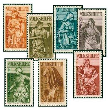 Volksabstimmung 1935 - 7 Briefmarken postfrisch, Katalog-Nr. 199-205, Saargebiet