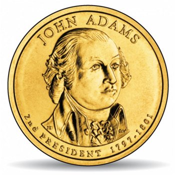 John Adams, Präsidentendollar 2007, USA