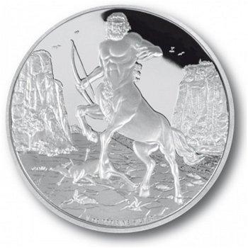 Zentaur, 2 Dollar Silbermünze, Niue