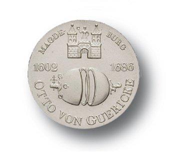 10-Mark-Münze 1977, 375. Geburtstag Otto von Guericke, DDR