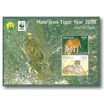 Jahr des Tigers - Briefmarkenblock postfrisch, Bhutan
