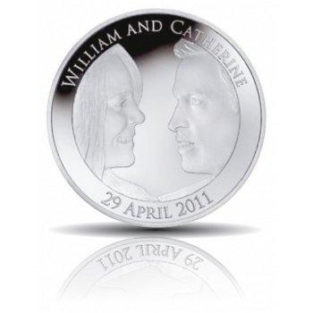 Königliche Hochzeit William und Kate - 5 Pfund Silbermünze 2011, Großbritannien