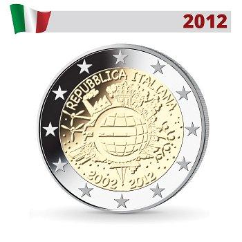 10 Jahre Euro - Gemeinschaftsausgabe, 2 Euro Münze 2012, Italien