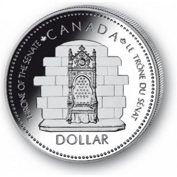 25 Jahre Thronbesteigung - Silberdollar 1977, 1 Dollar Silbermünze, Canada