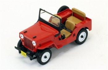 Modellauto:Willys Jeep CJ3B von 1953, rot(Premium X, 1:43)