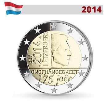 2-Euro-Münze 2014, 175 Jahre Unabhängigkeit, Luxemburg