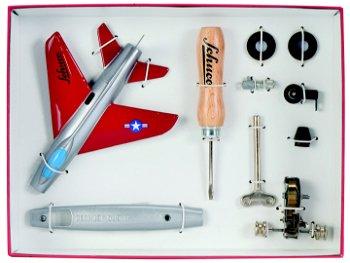 Blechspielzeug:Micro Jet - Super Sabre F100 -Montagekasten(Schuco)