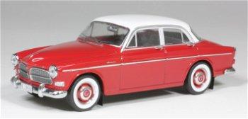 Modellautos:Volvo Amazon 120 von 1956, rot-weiß(PremiumX, 1:43)