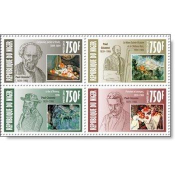 Paul Cézanne - 4 Briefmarken postfrisch, Niger