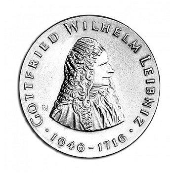 """20-Mark-Münze 1966 """"250. Todestag Gottfried W. Leibniz"""", DDR"""