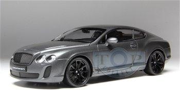 Modellauto:Bentley Continental Supersports, satin-mattschwarz(Welly, 1:18)