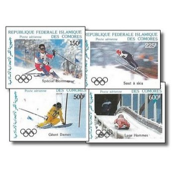 Olympische Winterspiele 1988, Calgary – Briefmarken postfrisch, ungezähnt, Katalog-Nr. 799-802, Komo