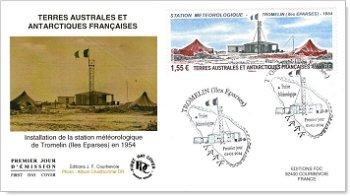Zoologische Station Tromelin - Ersttagsbrief, Französische Gebiete in der Antarktis