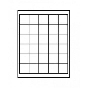 LINDNER Münzenbox, quadratische Vertiefungen 38mm, LI 2115, Carbo