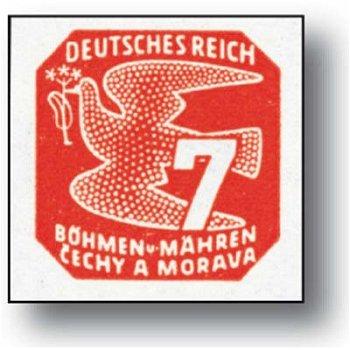 Neue Zeitungsmarken - 9 Briefmarken postfrisch, Katalog-Nr. 117 - 125, Böhmen und Mähren