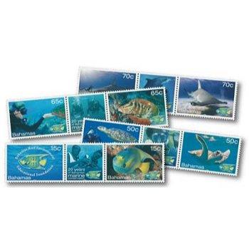 Unterwasserwelt - 8 Briefmarken postfrisch, Bahamas