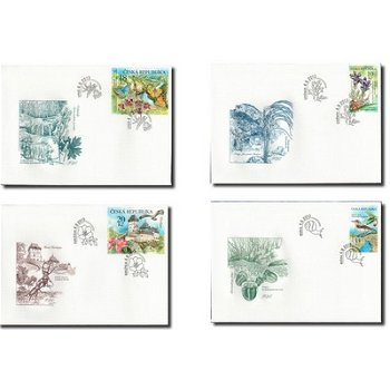 Nature conservation 2013 limestone area, catalog no. 773-776-4 First Day Covers, Czechoslovakia