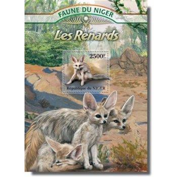 Füchse - Briefmarken-Block postfrisch, Niger