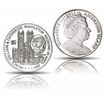 Westminster Abbey: Königliche Hochzeit William und Kate - 2 Pfund Silbermünze, Ascension