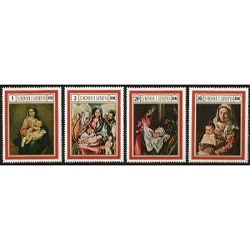 Weihnachten: Spanische Gemälde – vier Briefmarken postfrisch, Katalog-Nr. 206-209, Samoa