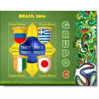 Fußball-Weltmeisterschaft, Gruppe C - Briefmarken-Block postfrisch, Guinea-Bissau