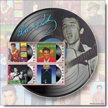 Elvis Presley – Briefmarken-Block postfrisch, Guyana