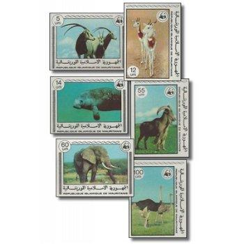 """Weltweiter Naturschutz """"Seltene Tiere"""" - 6 Briefmarken ungezähnt postfrisch, Katalog-Nr. 5"""