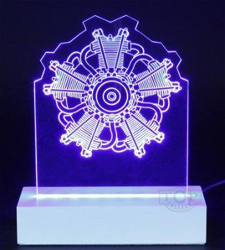 Exklusives LED-Lichtkunstwerk:5-Zylinder Sternmotor