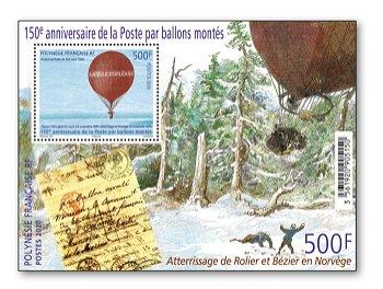 150 Jahre Ballon Montè - Block postfrisch, Polynesien