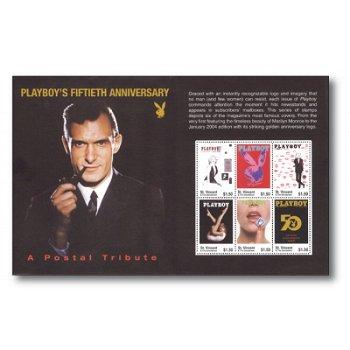 50 Jahre Playboy - Briefmarken-Kleinbogen postfrisch, St. Vincent und Grenadinen