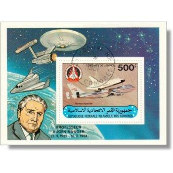 Raumfahrt - Briefmarken-Block gestempelt Katalog-Nr. 629 Bl. 227, Komoren