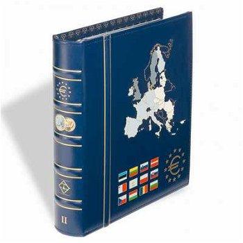Münzalbum VISTA, Band 2, für 12 Euro-Länder, inkl. Schutzkassette, blau, Leuchtturm 341041