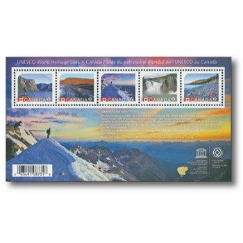 UNESCO-Welterbe - Briefmarken-Block postfrisch, Canada